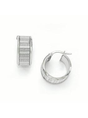 1365e4b9c Product Image 14k White Gold Glimmer Infused Hoop Earrings