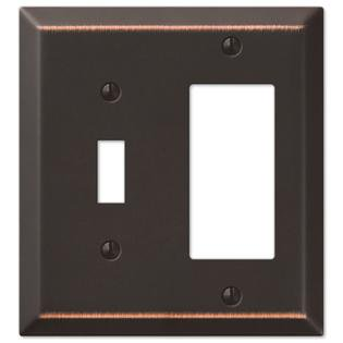 Toggle Rocker GFCI Wall Switch Plate Cover, Oil Rubbed (Switch Gfci Wall Plate)