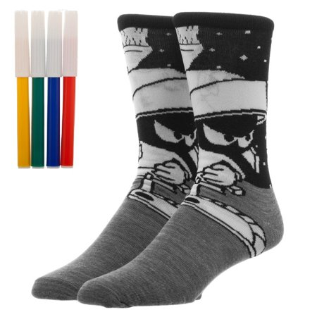 Crew Sock - Looney Tunes - Marvin the Martian Color Yourself cr672ulnt](Marvin The Martian)