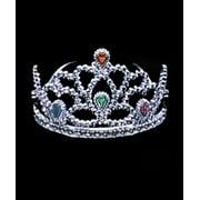 Star Power Girls Princess Shiny Jeweled Tiara, Silver, One Size