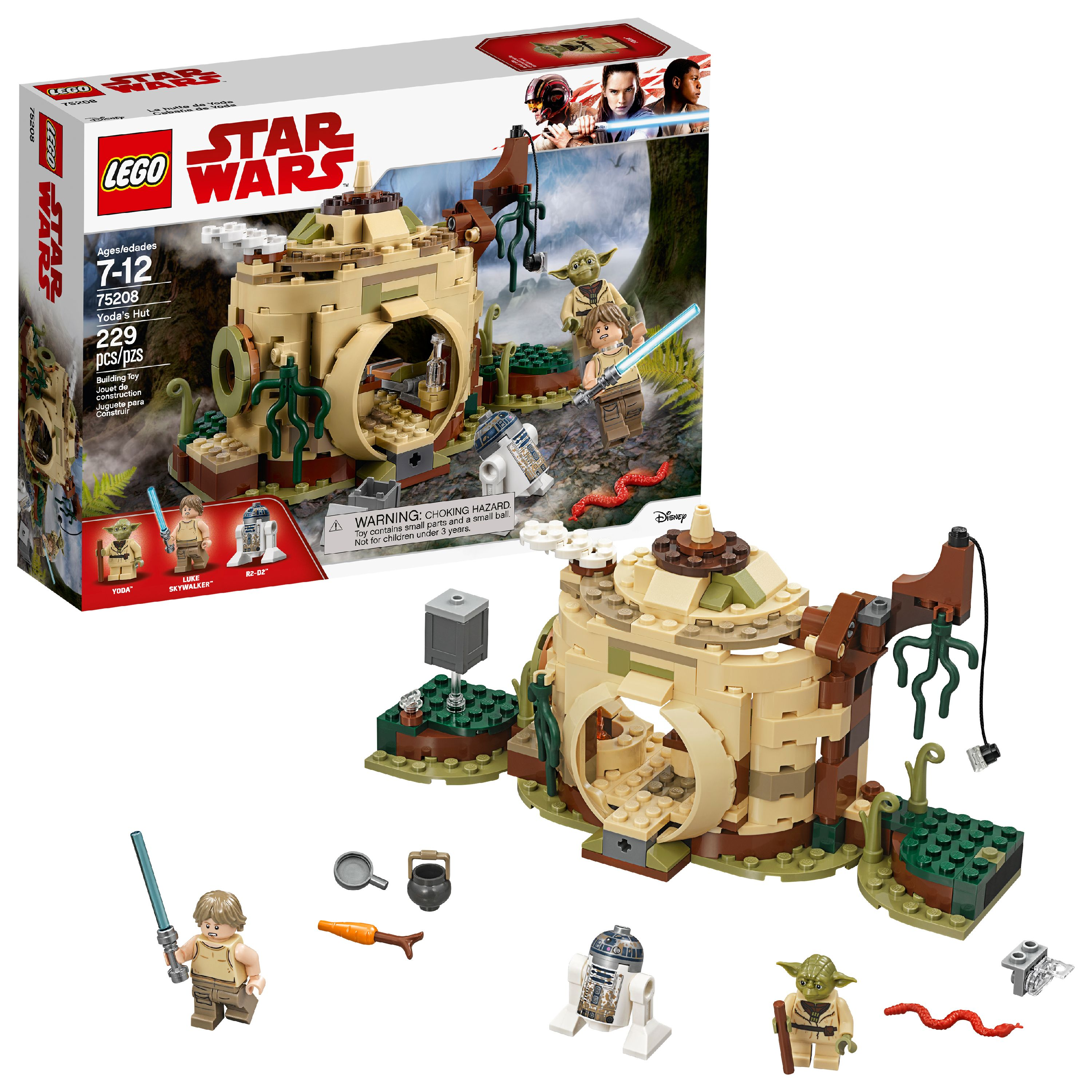 LEGO Star Wars TM Yoda's Hut 75208 Building Set (229 Pieces)