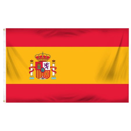 5ft x 3ft Spain Country National Flags Indoor Outdoor Polyester 1 Pack with Eyelets](Spanish Flags)