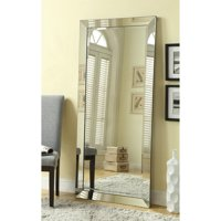 """Full Length Silver Beveled Leaner Mirror 74""""x33"""" By Coaster Company"""