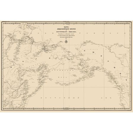 Old Northern Hemisphere Map - Northern Pacific Ocean, Asia, North America on tahiti map pacific, world war ii pacific, world map pacific, garbage island pacific, silestone pacific, war in pacific,