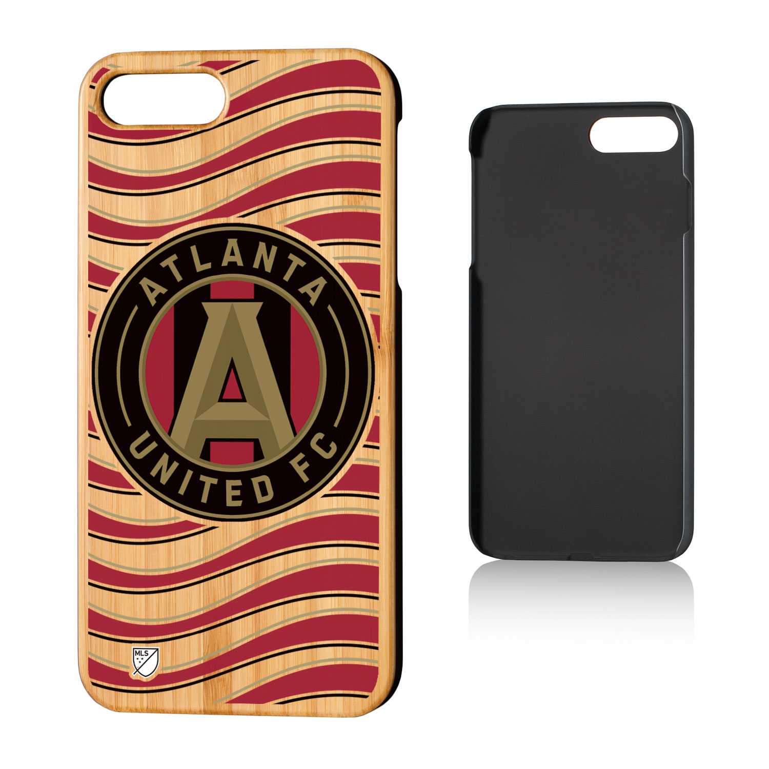 Atlanta United FC ATLUTD Wave Bamboo Case for iPhone 8 Plus / 7 Plus