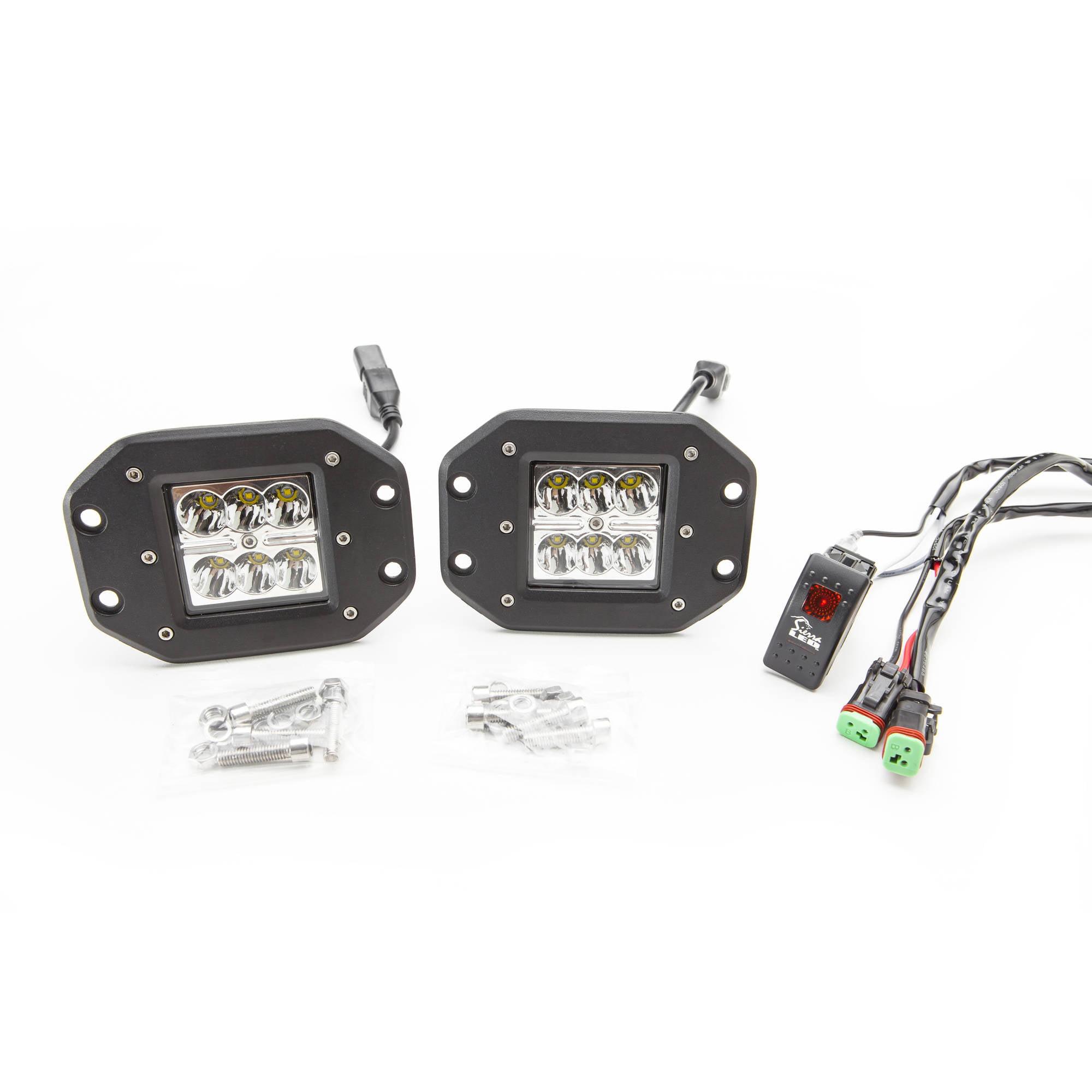Sierra LED TC18-SPT-K1 TerraCube Spot 1-Light Kit, Flush Mount, 18W