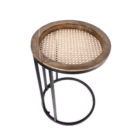 Better Homes & Gardens 21 inch Folding Wood and Iron Round Plant Stand