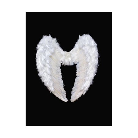 Angel Wings Wall (White Angel Wings Print Wall Art By)