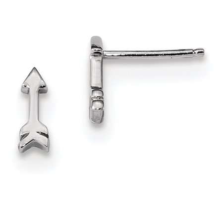 Sterling Silver Rhodium-plated Arrow Post Earrings QE13429 - image 1 de 1