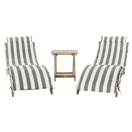 - Safavieh Pacifica Outdoor Modern 3 Piece Lounge Set with Cushion