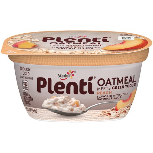 Yoplait Plenti Peach Oatmeal with Greek Yogurt, 5.5 oz
