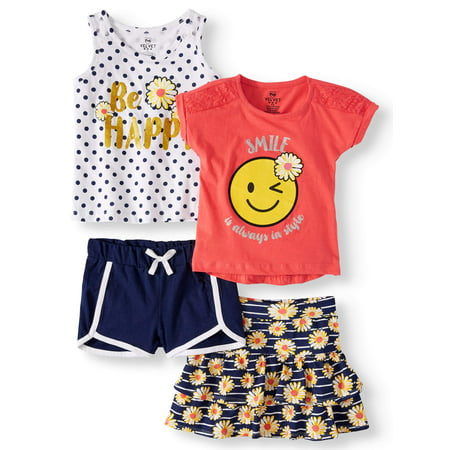 Pineapple Mix and Match, 4-Piece Outfit Set (Little Girls & Big Girls)](Little Girls Halloween Outfits)