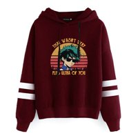 Fancyleo New Fashion Autumn Winter Woman Anime Hoodie Long Sleeve My Hero Academia Group Print Casual Hooded Sweatshirt Pullover Tops