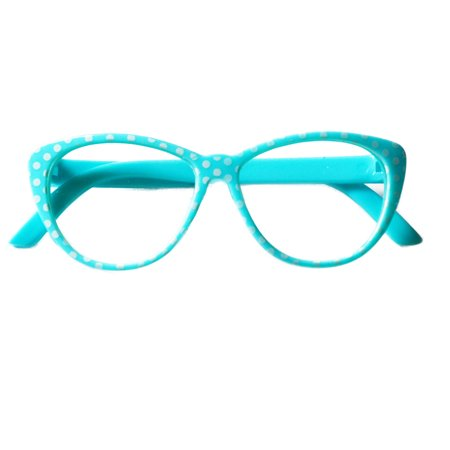 My Brittany's Light Blue Glasses with White Dots for American Girl Dolls-My Life as Dolls- Our Generation Dolls-18 Inch Doll (What Type Of Glasses For My Face)