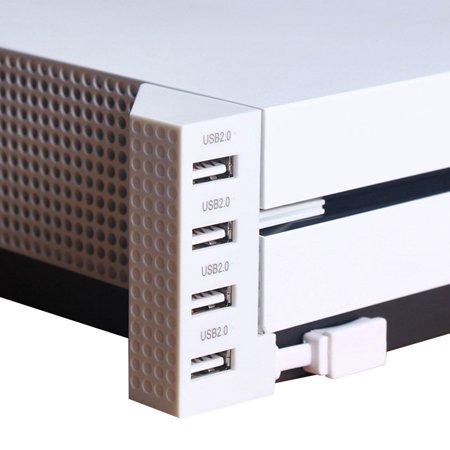 USB Hub 2.0 for Xbox One Slim, EEEkit 4 Ports USB Splitter Expansion Adapter for Microsoft XB1 S (Xbox One Usb Splitter)