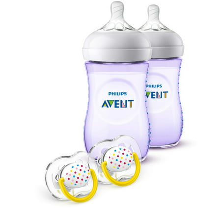 Philips Avent Natural Baby Bottle Purple Gift Set