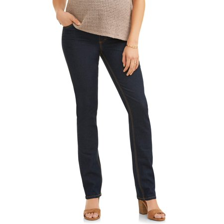 Oh! Mamma Maternity Straight Leg Jeans with Full Panel - Available in Plus Size