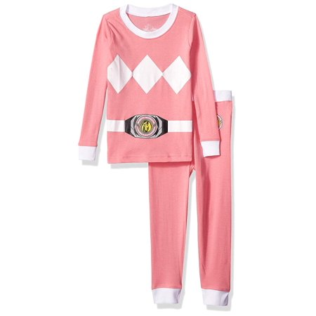 b656d06904 POWER RANGER - Girl s Pink Power Ranger Costume 2 Piece Pajama Sleep Set  (Big Girls   Little Girls) - Walmart.com