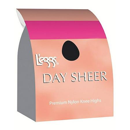 L'eggs Day Sheer Knee Highs, Sheer Toe 12-Pack