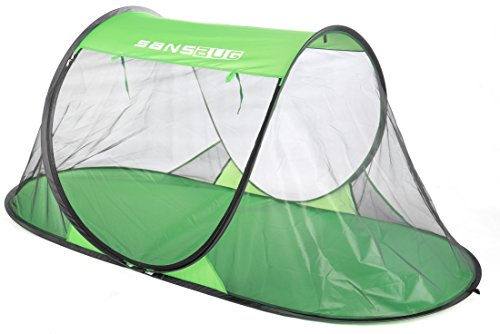 SansBug 1-Person Free-Standing Pop-Up Mosquito-Net (Poly Floor) by