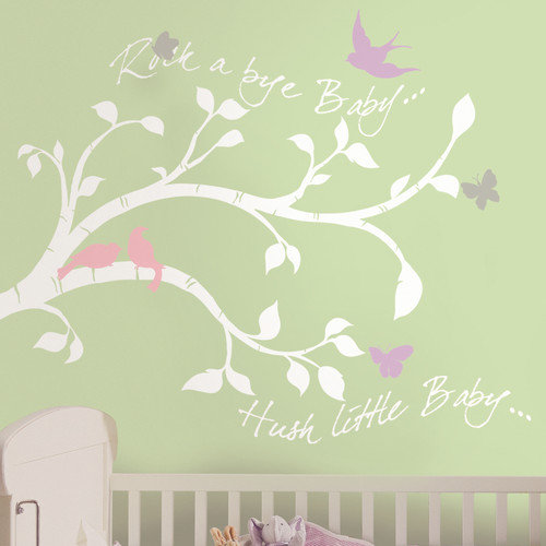 Bird Branch Peel & Stick Giant Wall Decals
