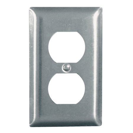 Pass & Seymour SS8CC50 Wall Plate, Duplex Outlet, Stainless Steel - Quantity -