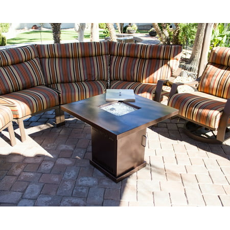 AZ Patio Heaters Outdoor Conventional Propane Fire Pit in Hammered (Propane Outdoor Fireplaces)