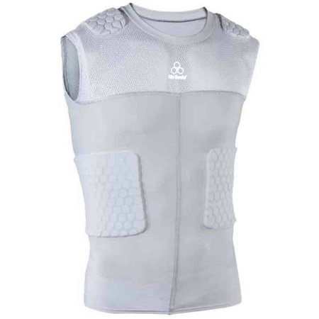McDavid Classic 7870Y CL Youth Hex Pad Mesh Sleeveless 5 Pad Body Shirt Grey XL