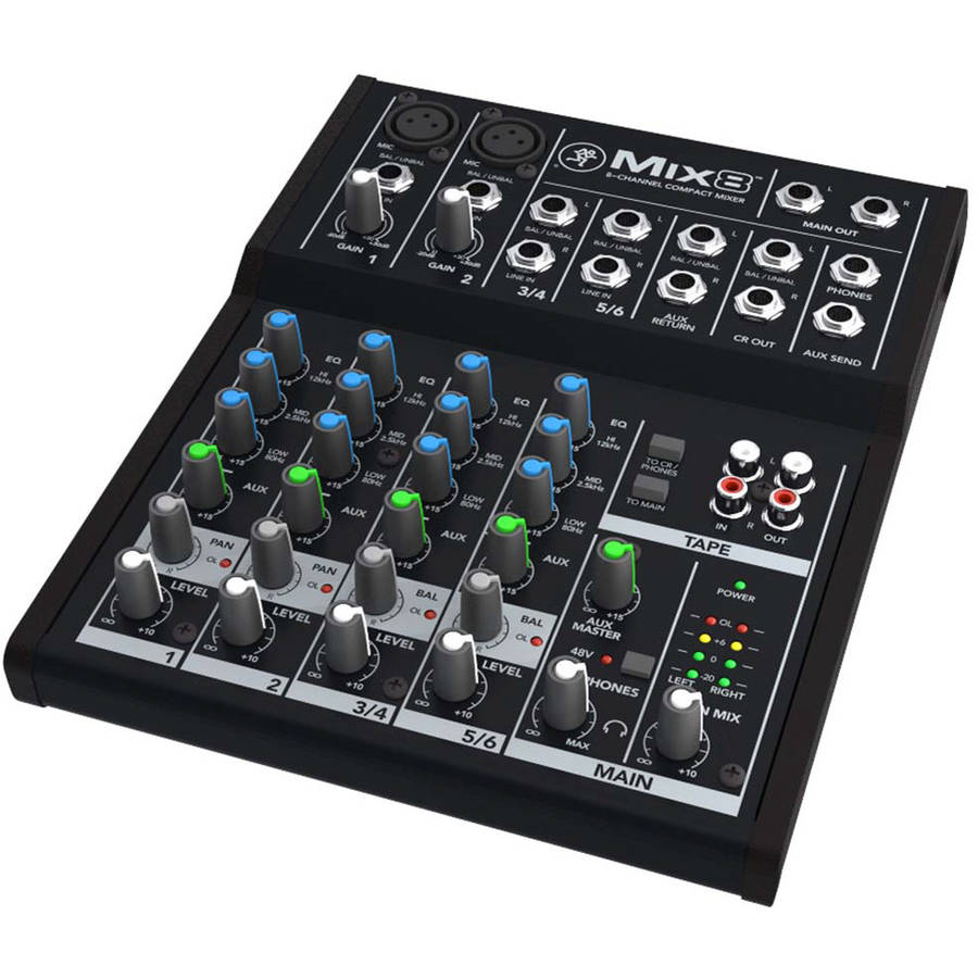 Mackie Mix8, 8-Channel Compact Mixer