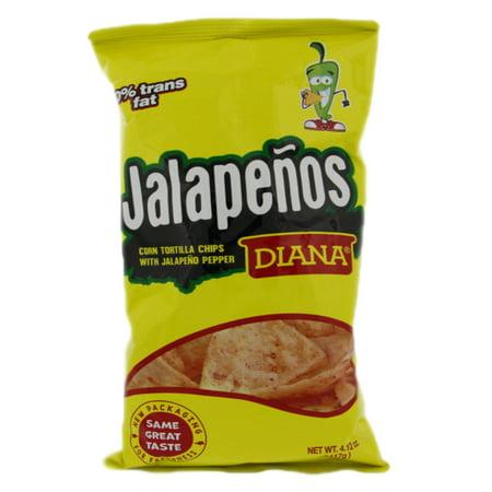 Prodiana Jalapeno Snacks 4.12 oz - Tortilla (Pack of 24) - Jalapeno Tortilla Chips