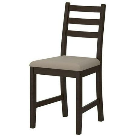 Two - IKEA LERHAMN Chair, black-brown, Vittaryd beige, 34210.202620.104 ()