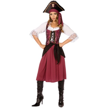 Pirate Wench Adult Halloween Costume (Halloween Pirate Decorations)