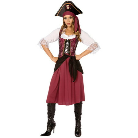 Pirate Wench Adult Halloween Costume](Female Pirate Costume Makeup)