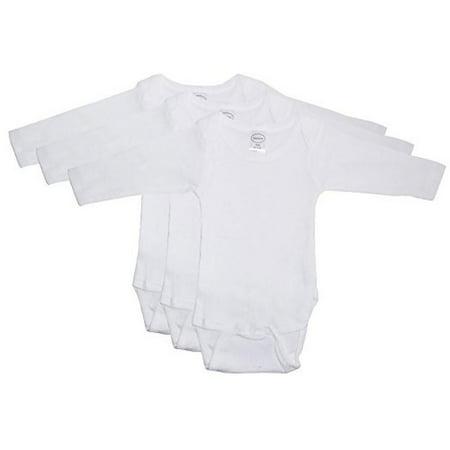 Bambini Long Sleeve White Onezie 3 Pack Large - image 2 of 2