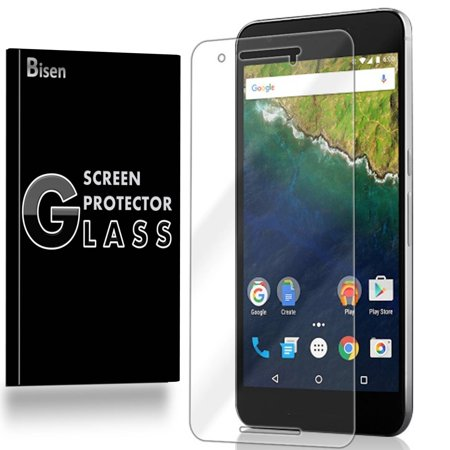 LG (Google) Nexus 5X [BISEN] 9H Tempered Glass Screen Protector, Anti-Scratch, Anti-Shock, Shatterproof, Bubble
