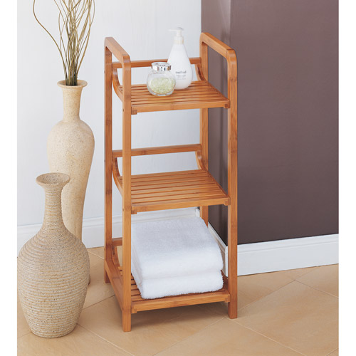 Neu Home Lohas Collection 3-Tier Tower, Carbonized Bamboo