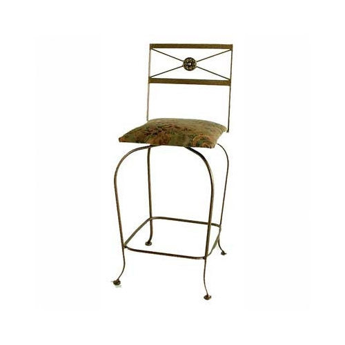 Grace Collection Neoclassic 30'' Swivel Bar Stool