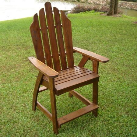International Caravan  Acacia Adirondack Bar Chairs (Set of 2) Adirondack Chair Coat Bar