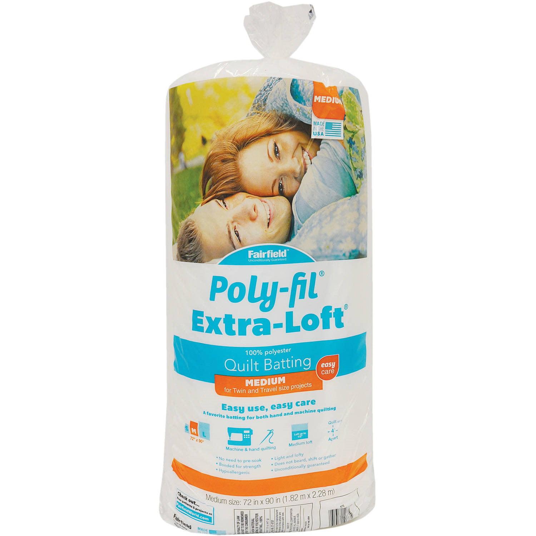 """Poly-Fil Extra-Loft Batting - 72"""" x 90"""""""