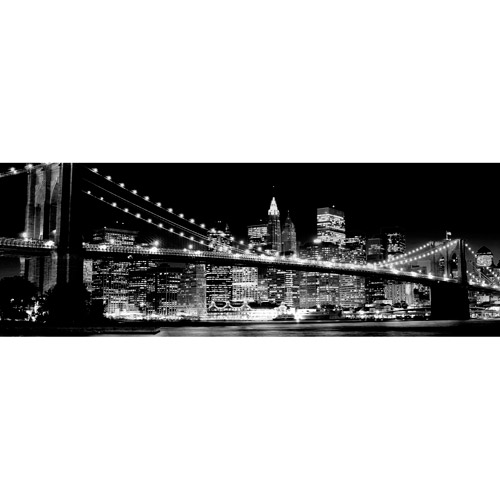 Black and White City Bridge