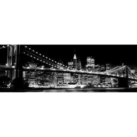 PTM Images Black and White City Bridge Canvas Wall Art 46