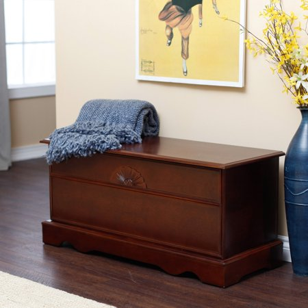 Aster Cedar Hope Chest - Cherry Finish Moroccan Cedar Box