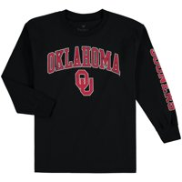 Oklahoma Sooners Fanatics Branded Youth Distressed Arch Over Logo Long Sleeve T-Shirt - Black
