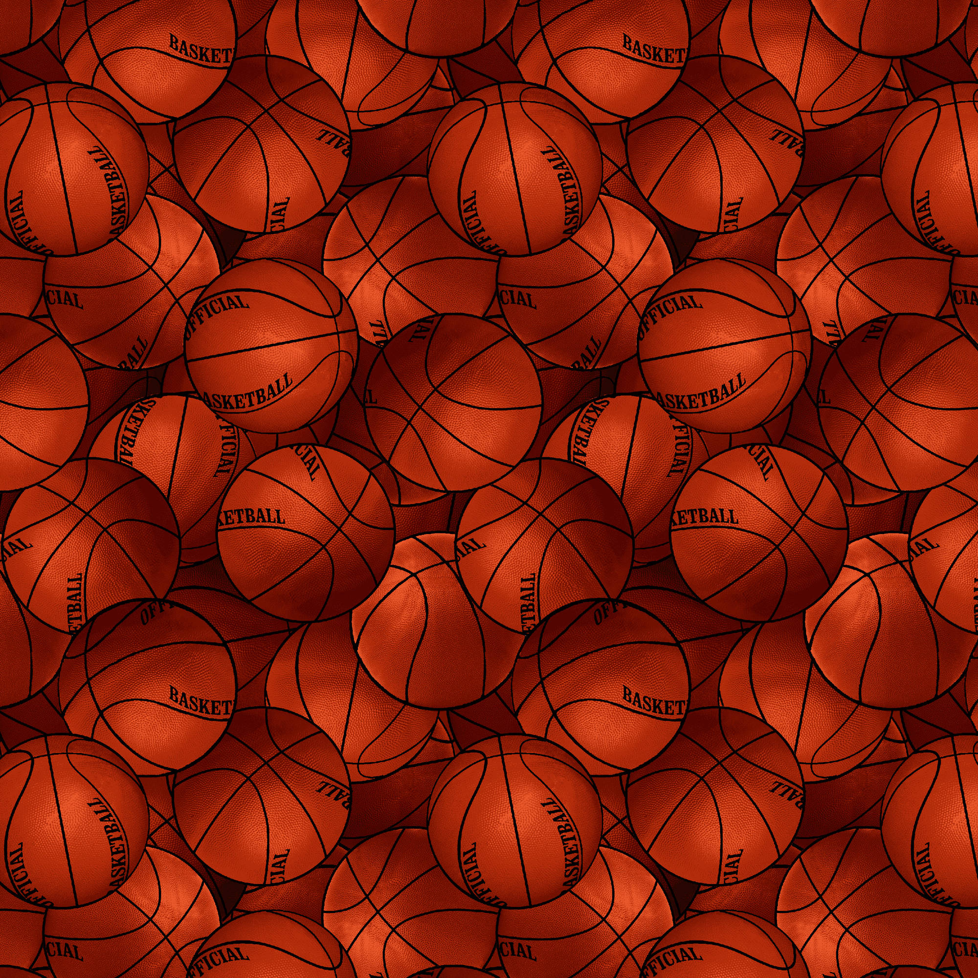 "David Textiles Cotton 36"" x 44"" Basketballs Quilting Fabric, 1 Each"