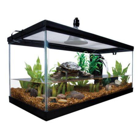 (Aqua Culture Turtle & Aquatic Reptile Habitat Starter Kit, 10 gallon capacity)