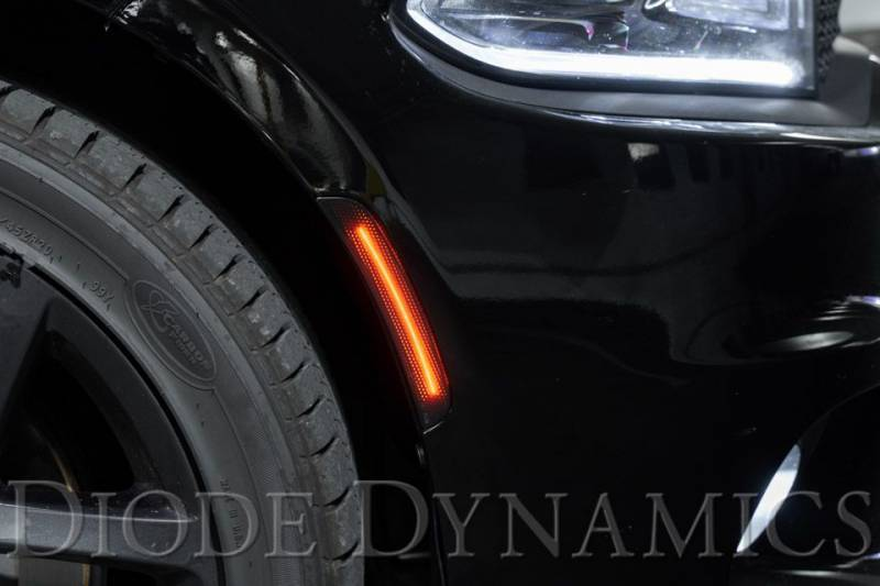 set Diode Dynamics LED Sidemarkers compatible with Dodge Charger 2015-2020 Amber//Red