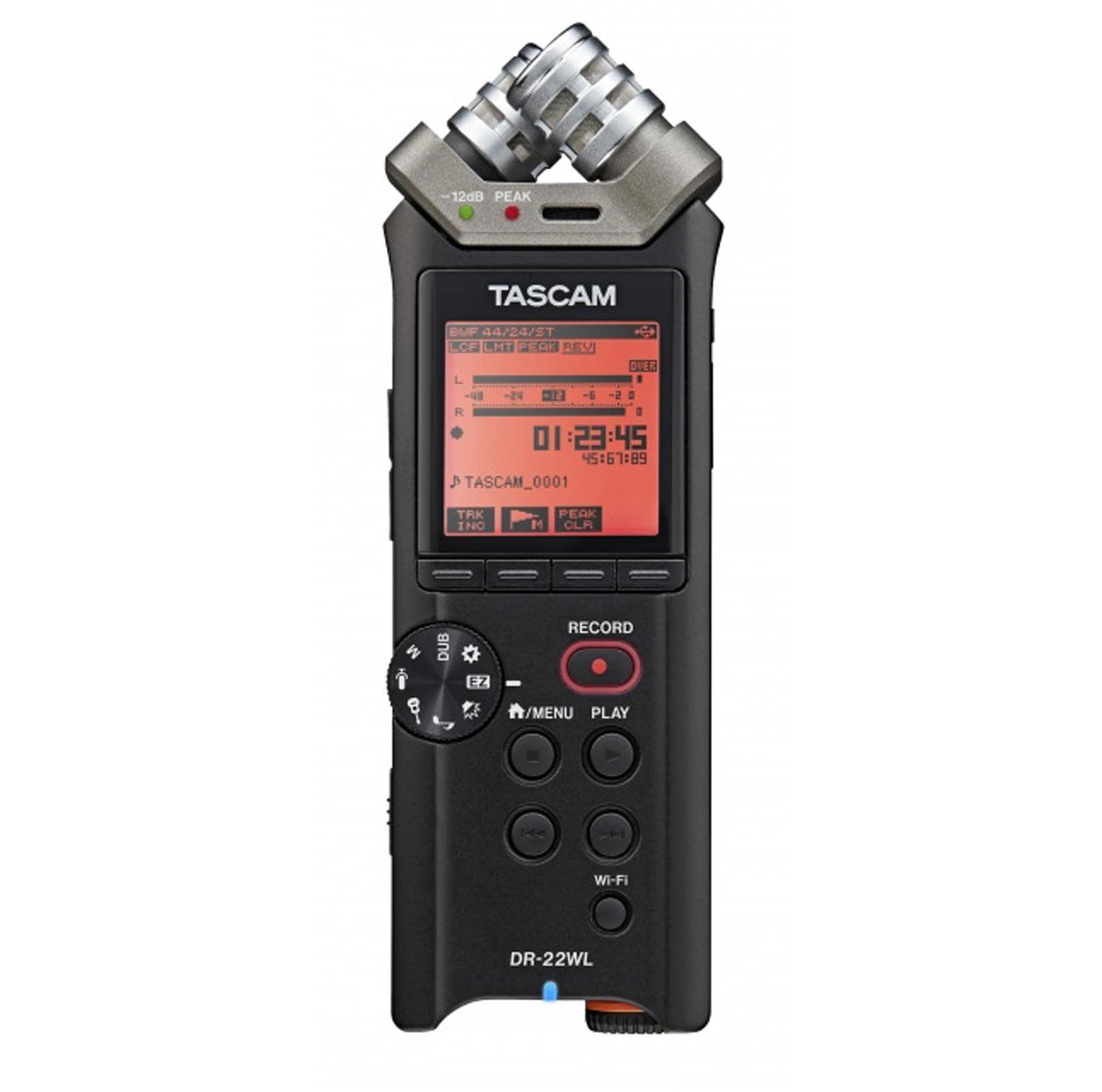 TASCAM DR-22WL 2 Channel Handheld Portable Wi-Fi Studio Recorder w/ 4GB SD Card