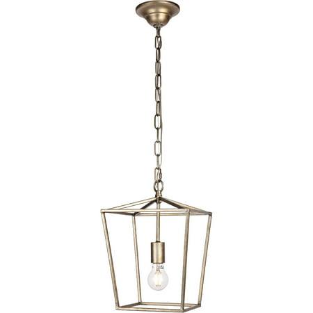 Pendants 1 Light Fixtures With Vintage Slier Finish Metal Material E26 Bulb 10
