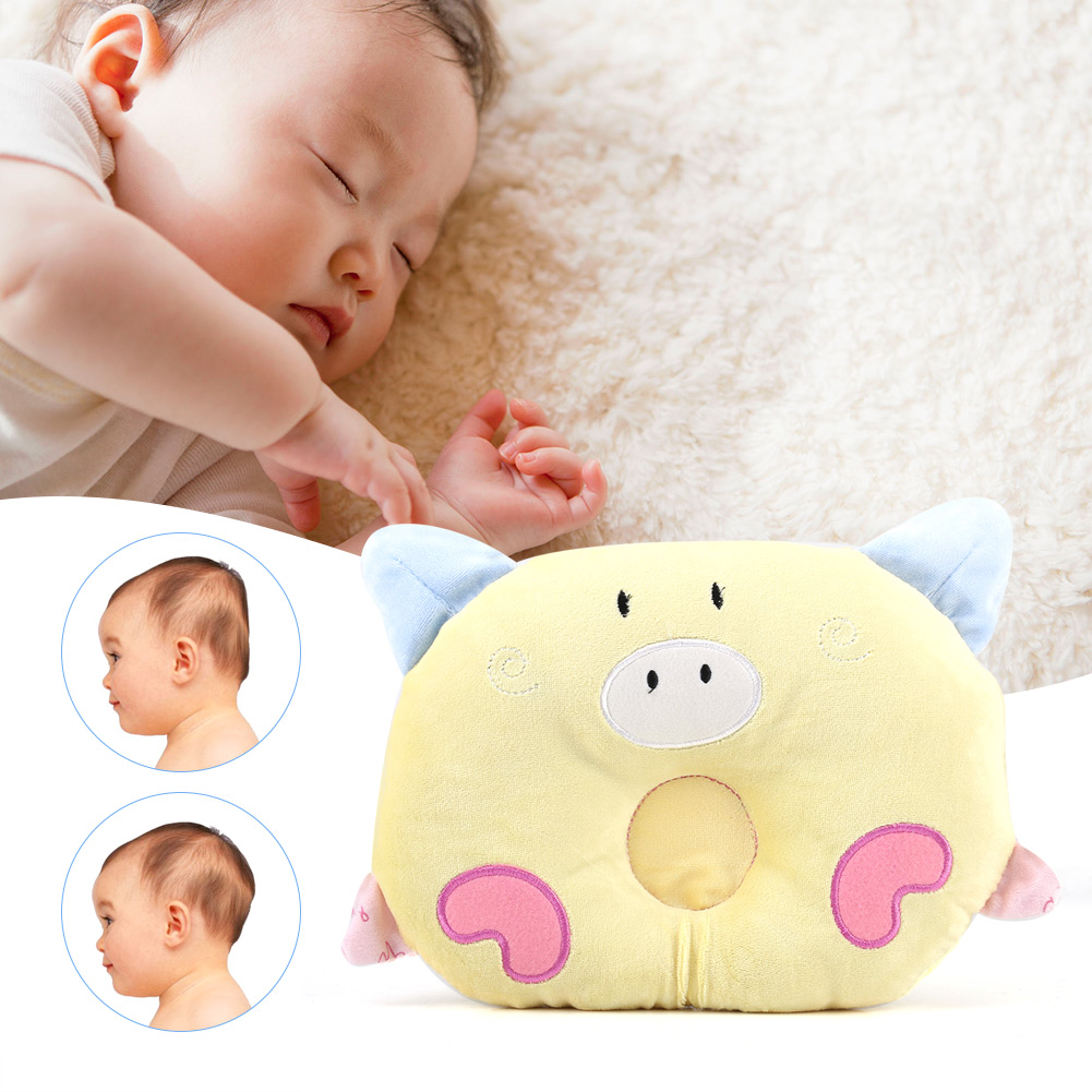 Baby Pillow Prevent Flat Head Infant Memory Foam Support Anti Roll Cushion Soft