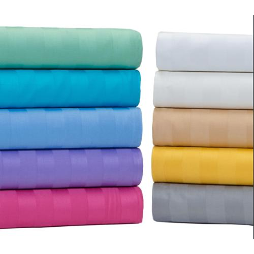 Aspire Linens Egyptian Cotton 500 Thread Count Damask Stripe Bright Sheet Set